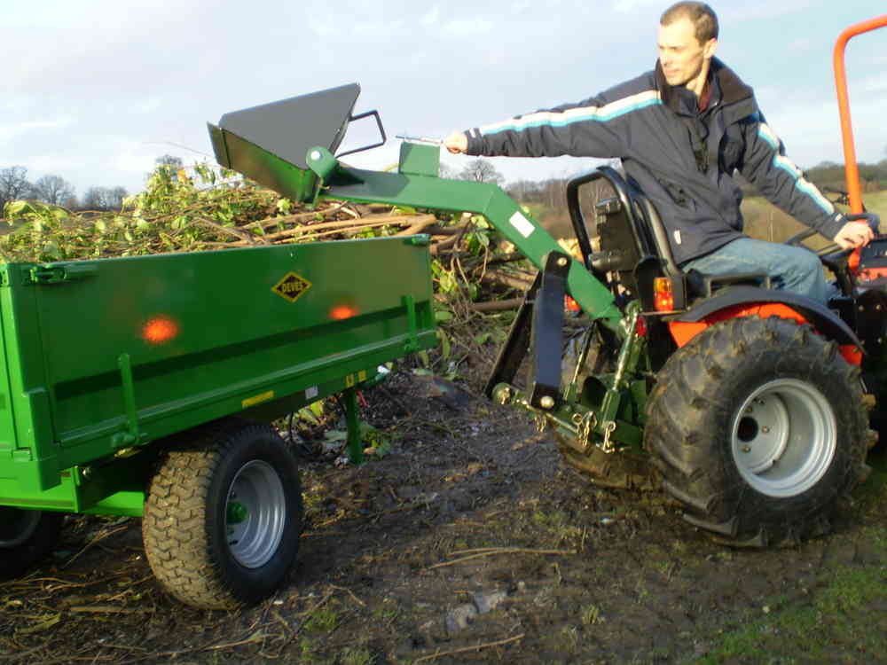 Garden Tractor Loader : Mini rear loader