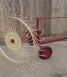 Single wheel rake for light vehicles
